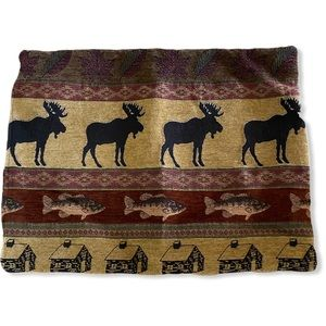 Pillow Sham Moose Lodge Bass Fish Country Cabin